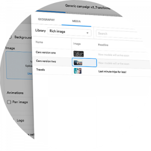 Image shows content added to the new Media Library.