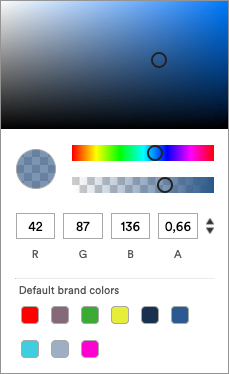 Showing all available colors from a Brand in the colorpicker.