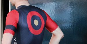Image shows a man with a target on his back representing Adssets through on one advertising trend for 2021, contextual personalization.